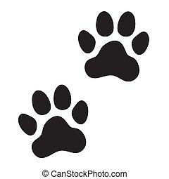 Animal (dog, cat) paw prints. Icon.