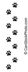 Animal (dog, cat) paw prints
