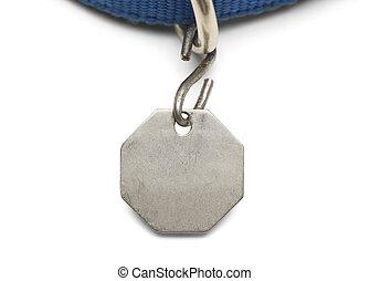 Animal Dog Tag - Blank Pet Dog Tag and Collar Isolated on...