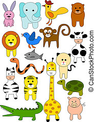 Animal doodle - animal doodle collection