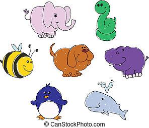 animal, doodles