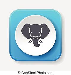 animal elephant icon