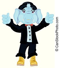 Animal elephant in suit