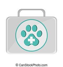 animal estimação, ajuda, ícone, primeiro, equipamento
