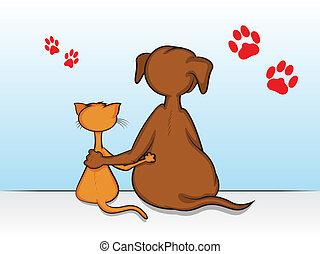 animal estimação, amigos