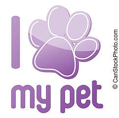animal estimação, desenho, meu, amor, ilustração