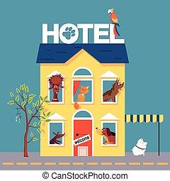 animal estimação, hotel