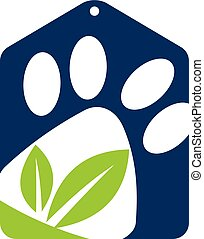 animal estimação, loja, logotipo, desenho, modelo, vetorial