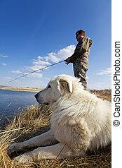 animal estimação, pesca