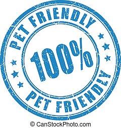 animal estimação, selo, amigável