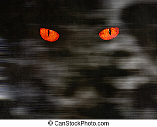 Animal eyes in dark