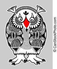 animal fantasy personage, owl
