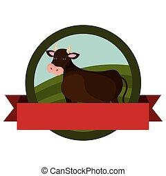 animal farm emblem with ribbon
