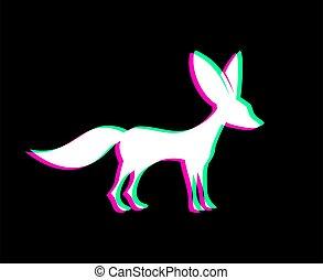 animal, fennec, symbole, visuel