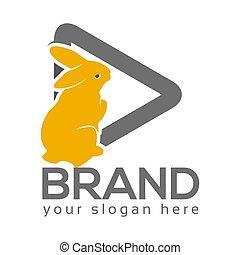 Animal Film logo, flat design. Vector Illustration on white background