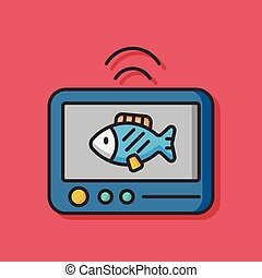 animal fish vector icon