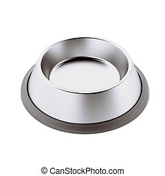 Animal food bowl isolated on a white background