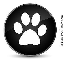 Animal footprint icon elegant black round button