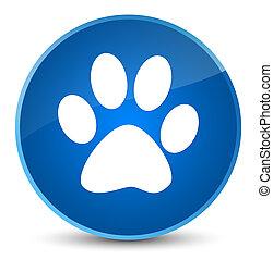 Animal footprint icon elegant blue round button