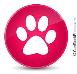Animal footprint icon elegant pink round button