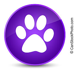 Animal footprint icon elegant purple round button