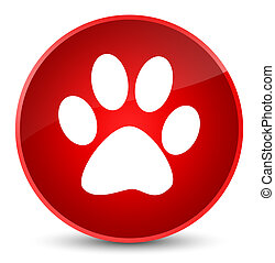 Animal footprint icon elegant red round button