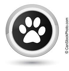 Animal footprint icon prime black round button