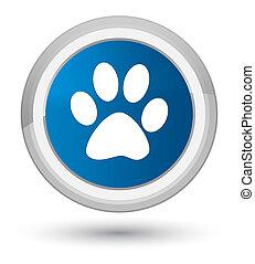 Animal footprint icon prime blue round button