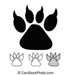 Animal footprint Icon Vector