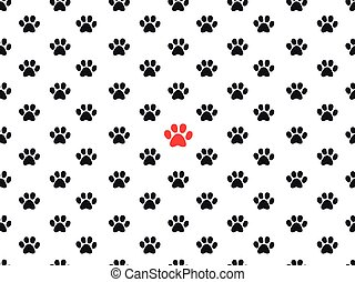 Footprint Animal Paws Pattern Vector Illustration For Zoo