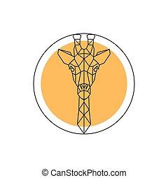 Animal giraffe head