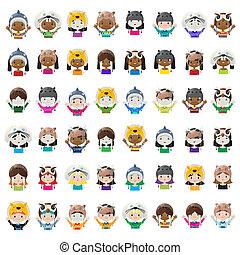Animal hat avatars