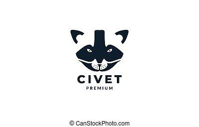 animal head civet Asian design