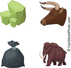 Animal, history and other web icon in cartoon style.Mine, cleaning icons in set collection.