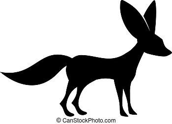 animal, icône, fennec