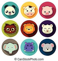animal, iconos