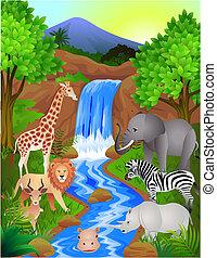 Animal in the wild - Animal cartoon in the wild