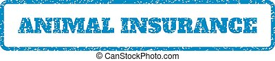 Animal Insurance Rubber Stamp