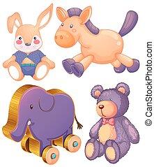 animal, juguetes
