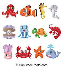 animal marino, iconos