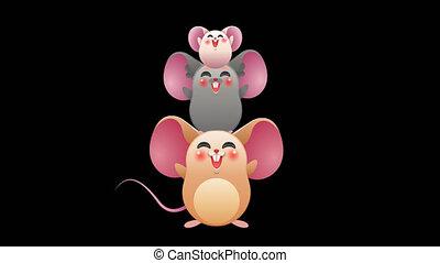 animal, mignon, souris, alpha, rigolote, canal, animation