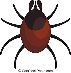 Animal mite icon. Flat illustration of animal mite vector icon for web design
