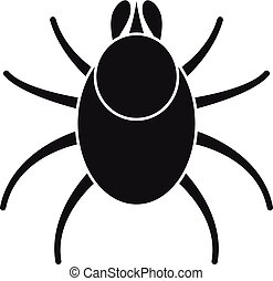 Animal mite icon. Simple illustration of animal mite vector icon for web design isolated on white background
