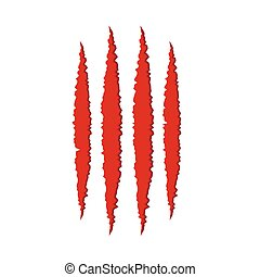 Animal monster claw scratches - Animal red monster claw...