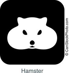 animal mouse hamster cartoon flat icon vector