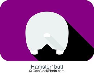 animal mouse hamster cartoon, flat icon, vector illustration