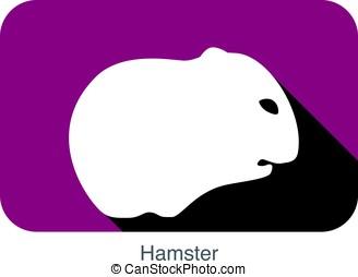animal mouse hamster cartoon, vector illustration