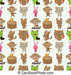 animal music pattern