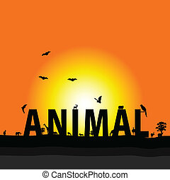 animal nature color vector illustration