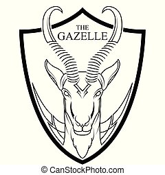 Animal of Africa gazelle head vector